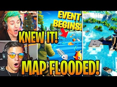 STREAMERS REACT TO *EVENT* ENTIRE MAP FLOODED In SEASON 2! (FORTNITE UPDATE)