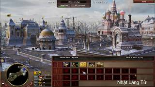 Game AOE 3  Hightlight ~ Russian Rush Very Fast - Best Player 1vs1 Russian vs France