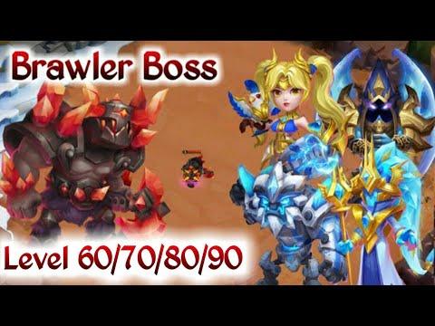 Brawler Warden | Rank -1 | Level 60 70 80 90 | Full 3 Minute Run With Set Up | Castle Clash