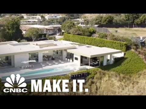 This $100 Million LA Mansion Has A Gold Cristal Room And A Gold Champagne Shooter | CNBC Make It.