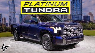 *HANDS ON*  2022 Tundra Platinum HYBRID is the ULTIMATE Luxury Pickup