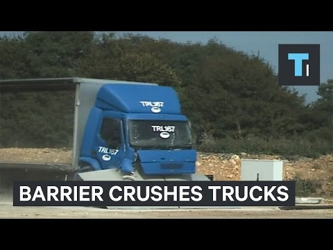 Transforming barrier stops terrorist vehicles in their tracks