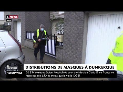 Dunkerque: la mairie distribue des masques à domicile