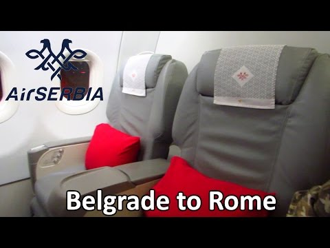 TRIP REPORT | Air Serbia (Economy) | Belgrade to Rome FCO | Airbus A319 [Full HD]