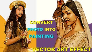 How to Turn Photos into Cartoon | Vector Art Effect in Photoshop | Deepika Padukone Painting