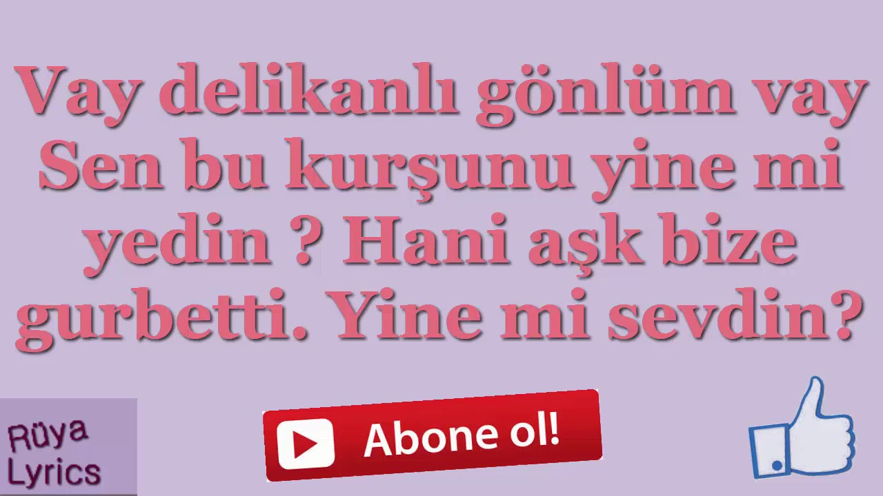 Vay Delikanli Gonlum Vay Ahmet Safak Lyrics Youtube