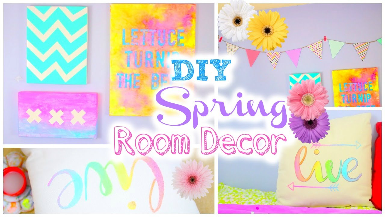 Diy Room Decorations For Spring Tumblr Inspired Youtube