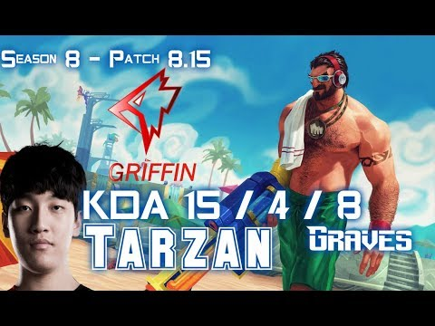GRF Tarzan GRAVES vs OLAF Jungle - Patch 8.15 KR Ranked