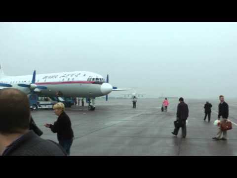 IL-18D Air Koryo airport 2 Pyongyang - Samjiyon