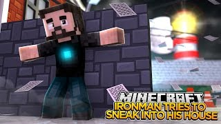minecraft adventure ironman tries to break into his own house