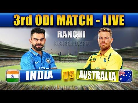 India vs australia 3rd odi live match online star sports