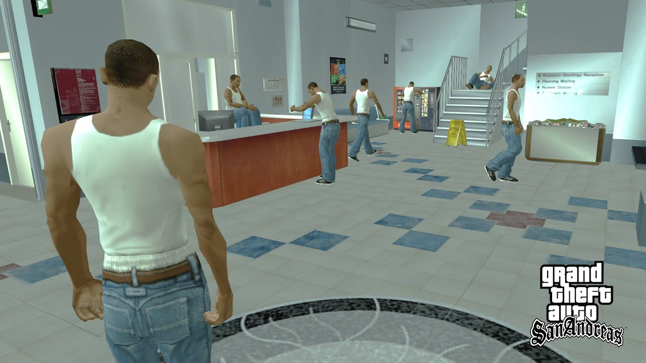 What Happens Inside The Hospital in GTA San Andreas? (CJ Easter Egg)