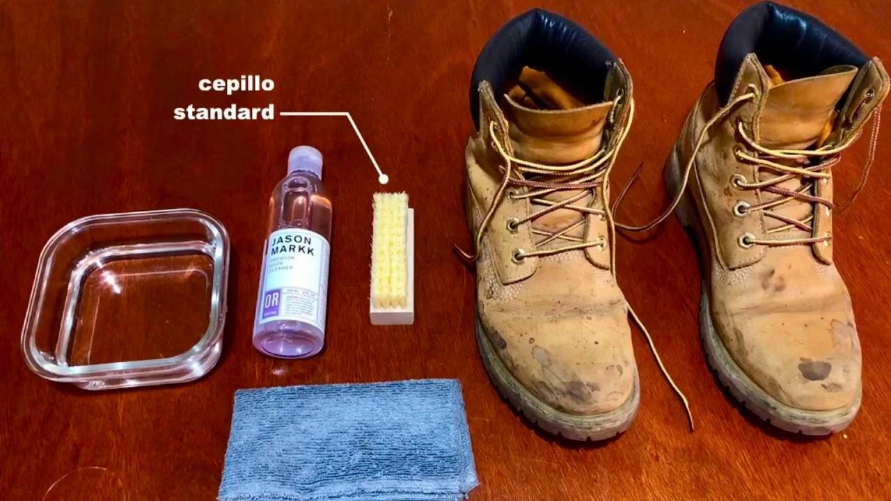 clérigo Por ley Santuario  Limpieza de botas TIMBERLAND - YouTube