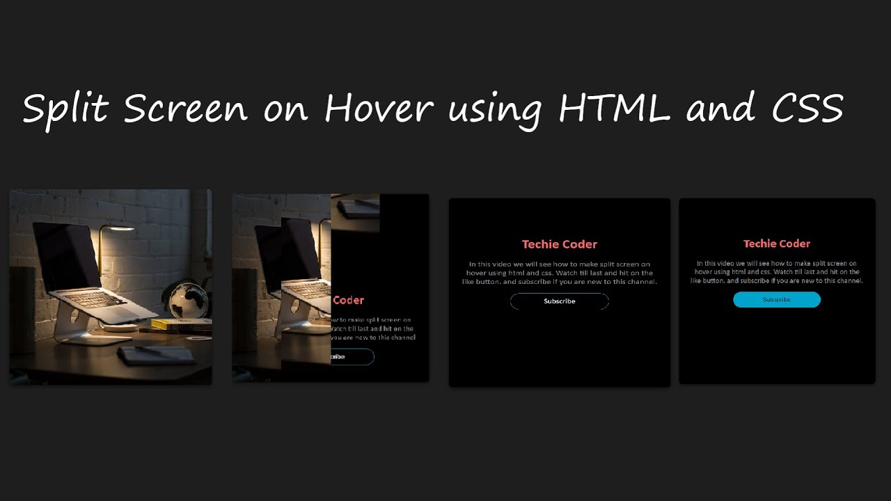 Split Screen on Hover using Html and CSS