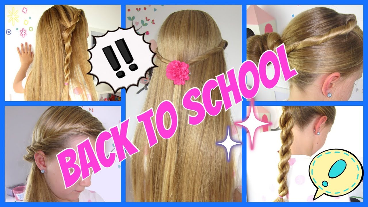 back to school 5 einfache und schnelle frisuren 3minuten flechtfrisuren f r m dchen youtube. Black Bedroom Furniture Sets. Home Design Ideas