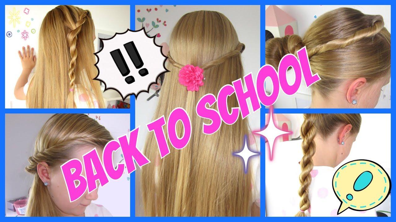 ♥BACK TO SCHOOL♥ 5 Einfache Und Schnelle Frisuren♥ 3Minuten