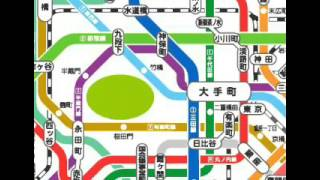 Tokyo Metro map (part 1)