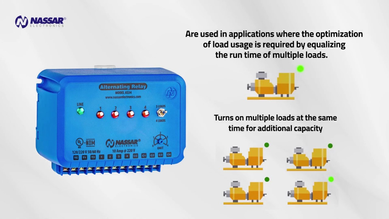 medium resolution of alternating relay up to 4 loads function and wiring diagram