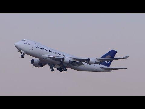 Air Atlanta Icelandic Boeing 747-400F em Viracopos/Campinas