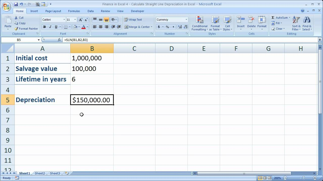 template excel depreciation template