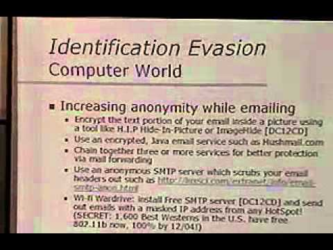 DEF CON 12 - Adam Bresson, Identification Evasion: Knowledge and Countermeasures