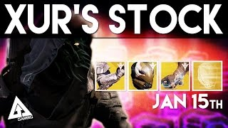 Destiny Xur January 15th - Xur's Location & Stat Rolls | Destiny The Taken King Exotics