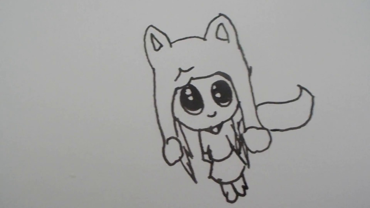 How to draw a chibi wolf girl