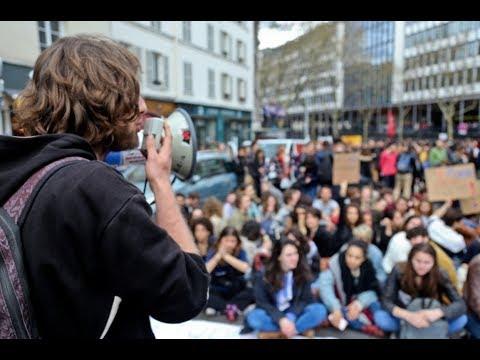 Paris : les étudiants VS la réforme de l'université à Jussieu Paris VI