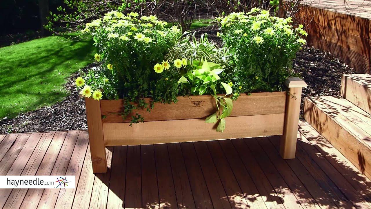 Gronomics Cedar Rustic Planter Box Product Review Video Youtube
