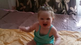 Cute Baby Lile Reacting to Dad Coming Home