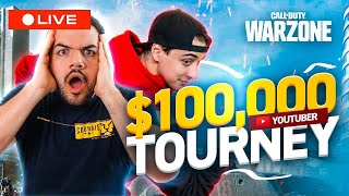 🔴$100,000 WARZONE TOURNAMENT VS YOUTUBERS! CLOAKZY AND I NEED YOUR ENERGY! !scoring