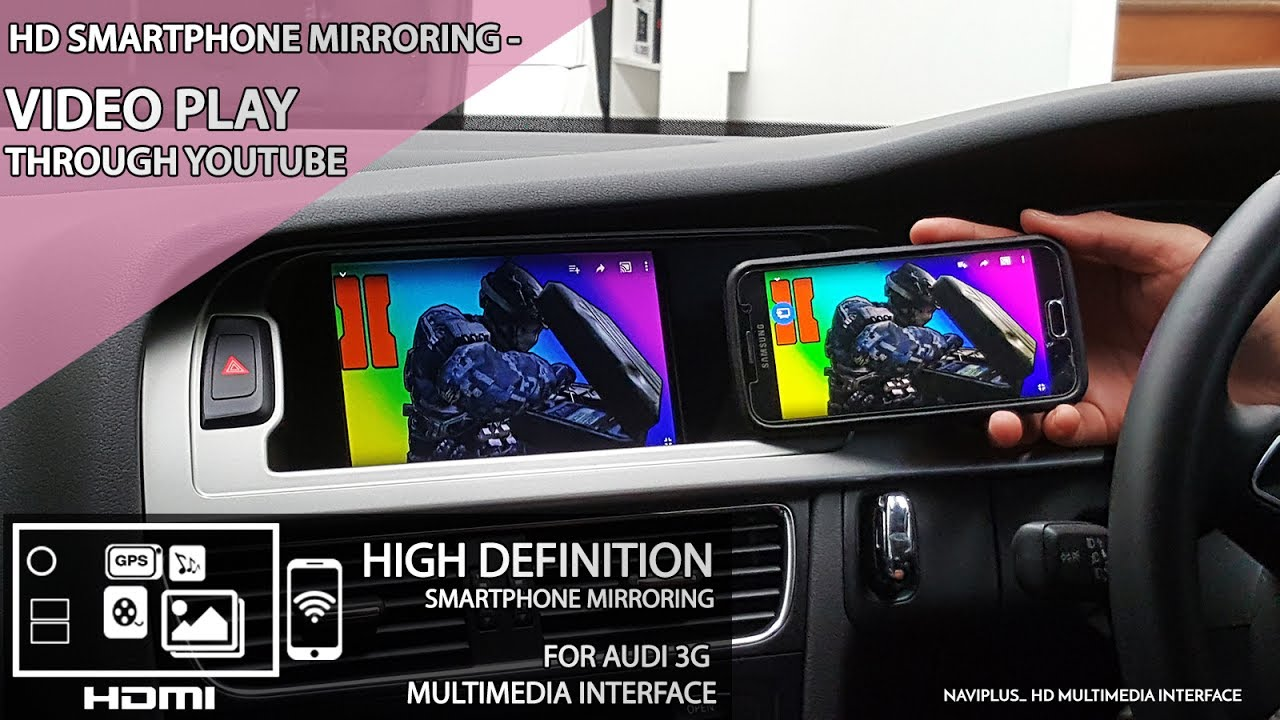HD Smartphone Mirroring Integration for Audi with 3G MMi Audio