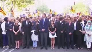 VERGONZOSA manifestación de BARCELONA contra el YIHADISMO