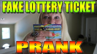 FAKE LOTTERY TICKET WINNER  PRANK ON GRANDMOM - PRANKS