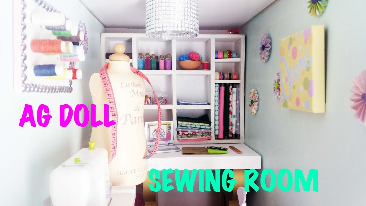 DIY: How To Make And Set Up American Girl Doll Sewing/Craft Room