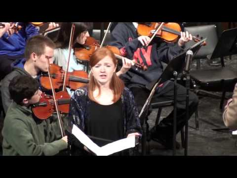 2015 Fiona Gillespie ings with the Williamsport Symphony Youth Orchestra