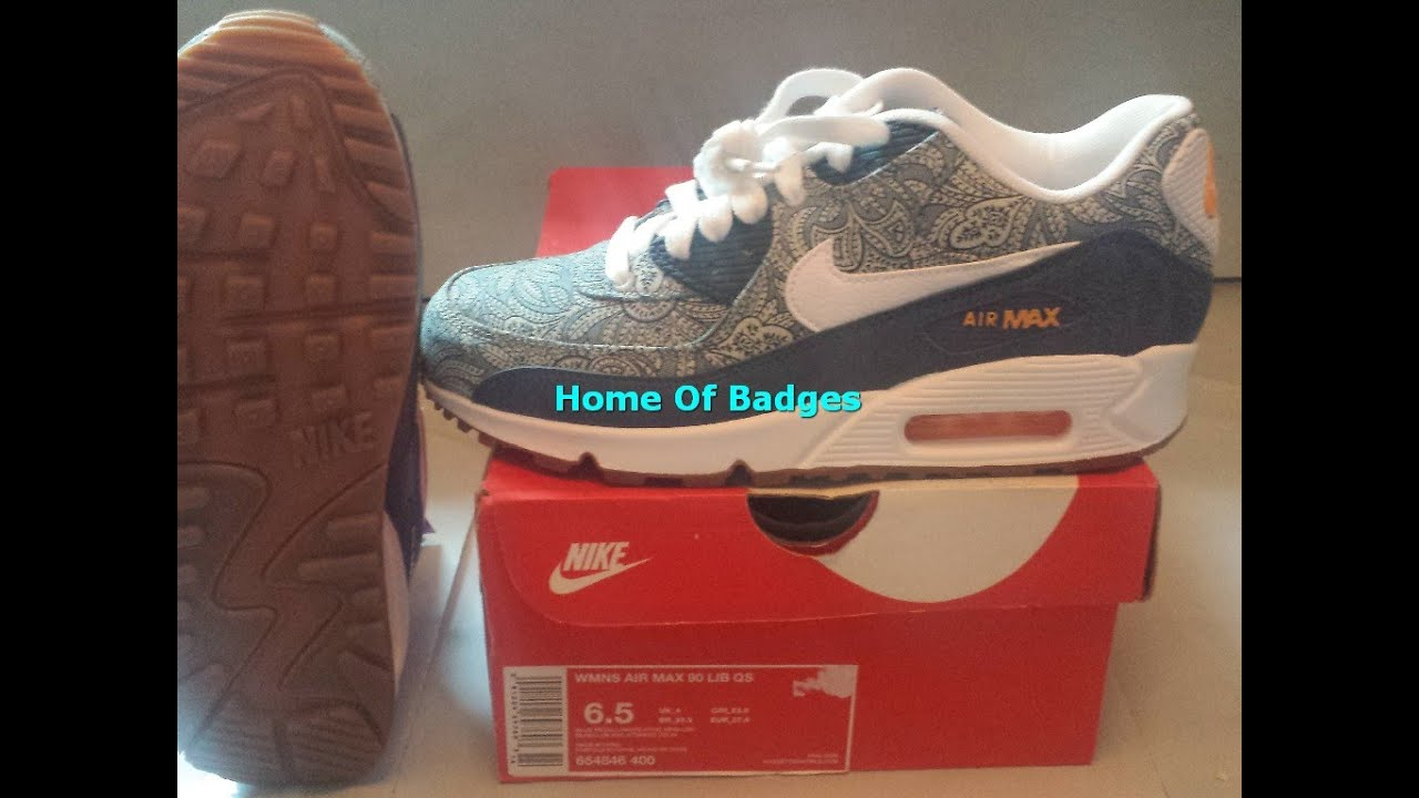 20150526 Nike 2015 Q2 Women Air Max 90 Liberty Fashion Sneaker Shoes 654846 400