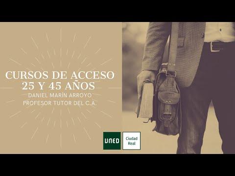 CURSO DE ACCESO MAYORES DE 24/45 AÑOS ( Daniel Marín Arroyo)