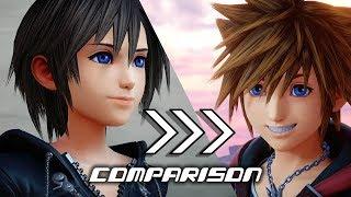 Kingdom Hearts 3 - Old and Updated Cutscenes Comparison - Main Story