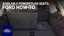 PowerFold® Seats   Ford How-To   Ford