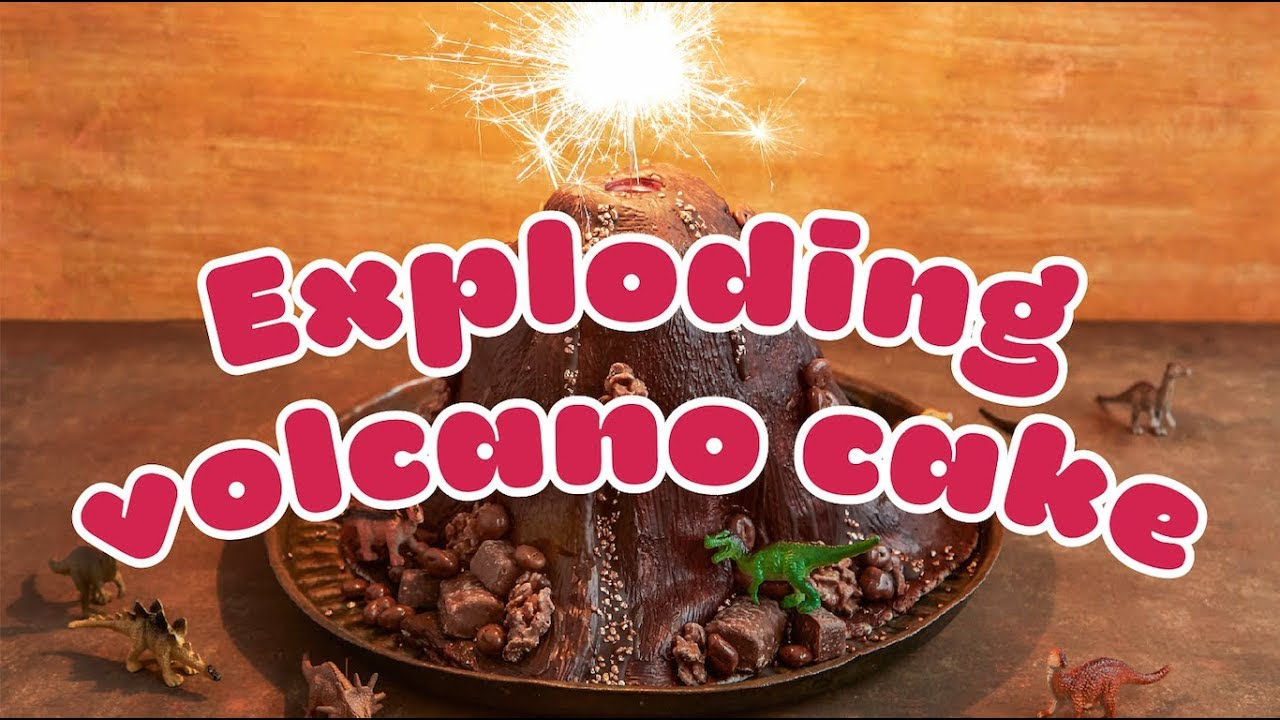 How To Make An Exploding Volcano Cake Bbc Good Food Kids Youtube