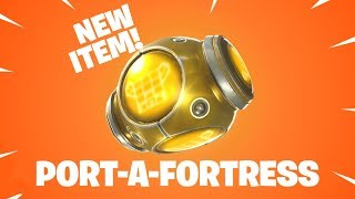 Testing out *NEW* Port-a-Fortress! And Spiky Stadium 1500 Wins   Fortnite Battle Royale
