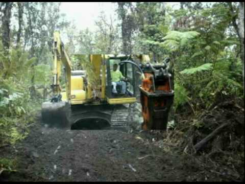 Building A Road Through The Jungles Of Hawaii