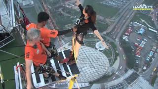 world highest bungy jump backflip at aj hackett macau tower