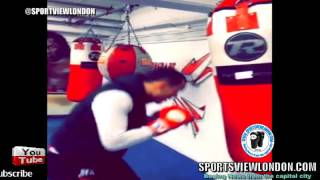FEROCIOUS!! Chris Eubank Jr smashes Heavy bag ahead of Blackwell fight