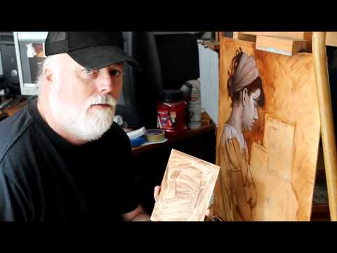Grisaille Oil Painting Update and Toning a Canvas - Mark Branscum