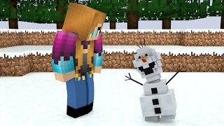 minecraft 3d olaf and anna giveaway desktop background