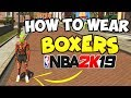HOW TO WEAR BOXER UNDERWEAR in NBA 2K19 | FUNNY CLOTHES GLITCH