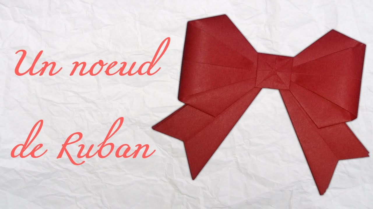 origami un noeud de ruban youtube. Black Bedroom Furniture Sets. Home Design Ideas
