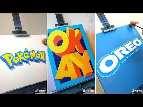 Amazing Calligraphy Drawing - Famous Branding Logos on Tik Tok